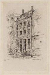 De voorgevel van het Rembrandthuis, Jodenbreestraat 4-6