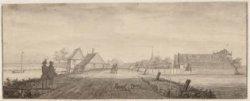 De Herberg en Schaaps Koojen, aan de afloop van Diemen eeven buijten Amsterdam