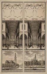 De Kerk van Binnen naa 't Orgel te Zien | De Kerk van Binnen nade Galdery te Zie…