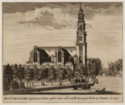 Westerkerk, begonnen Ao. 1602; zijnde daar in, de eerste maal, gepredikt op Pinx…