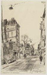 Huidenstraat gezien naar Keizersgracht 402-404. Op de achtergrond de Runstraat e…