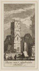 Ruine van 't afgebrande stadhuis