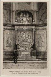 Tombeau de Ruyter dans l'Eglise Neuve, Dessin de Chapuis, d'après une photograph…