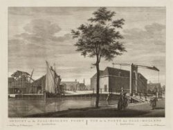 Gezicht na de Zaag-Molens Poort te Amsterdam