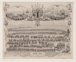 Triomf-Togt gehouden te Amsterdam den 16 November 1863