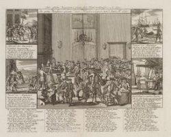 De grote Vergader-plaats der Windverkopers van 't jaar Anno 1720
