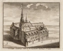 't Oude Stadthuys met St. Elisabeths Gasthuys. Ao.1544