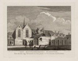 Het Minderbroeders Klooster, Zoo als het zig Vertoonde in den Jaare 1578. binnen…