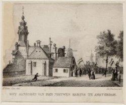 Het aankomen van den nieuwen haring te Amsterdam