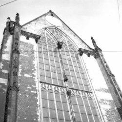 Achtergevel van de Nieuwe Kerk, Nieuwezijds Voorburgwal