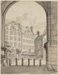 Onder den Onvolmaakten Toren der Nieuwe Kerk in 1811