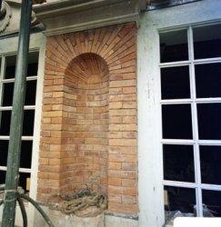 Herengracht 170-172, Huis Bartolotti, detail van de geveltop tijdens restauratie