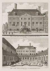 Het Oude-Zyds-Huiszitten-Aalmoesseniers-Huis, van vooren; Het Oude-Zyds-Huiszitt…
