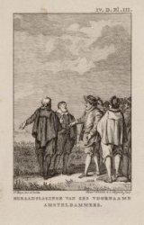 Beraadslaginge van zes voorname Amsterdammers