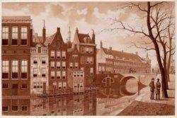 De Nieuwezijds Voorburgwal bij het Burgerweeshuis, voor de demping