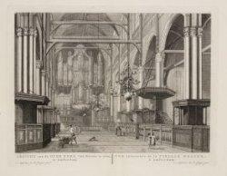Gezicht van de Oude Kerk van Binnen te zien, te Amsterdam