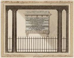 Het gedenkteken voor Jan C.J. van Speyk aan de binnenplaats van het Burgerweeshu…