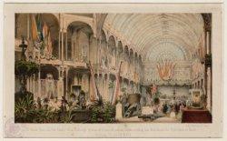 Paleis voor Volksvlijt op het Frederiksplein met de grote zaal tijdens de Eerste…