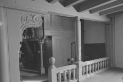 Singel 411, Oude Lutherse Kerk, interieur gezien naar het orgel op de eerste oml…
