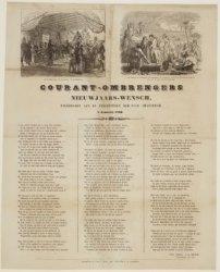 Courant-ombrengers Nieuwjaars-wensch, opgedragen aan de Ingezetenen der Stad Ams…