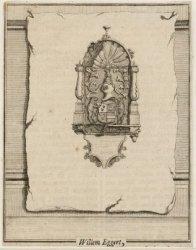 Dam 12, Nieuwe Kerk, het grafmonument van Willem Eggert. Techniek: ets