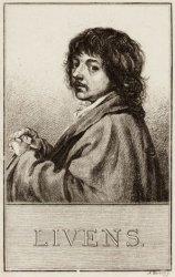 Portret van de schilder Jan Lievens