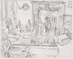 Interieur met tafel op de Elandsgracht 3