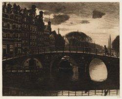 Gezicht vanaf de Korte Prinsengracht bij de Papiermolensluis over de Brouwersgra…