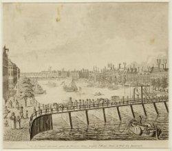 Amstel gezien van Blauwbrug naar Hogesluis