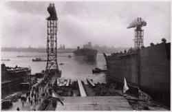 Tewaterlating van het tankschip ms. Koningswaard