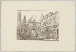 Straatje in het Oud-Hollands stadje op de Wereldtentoonstelling van het Hotel- e…