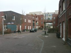 A.J. Krophollerstraat 15-17-19 enz. (links, v.l.n.r.) met nieuwbouwwoningen