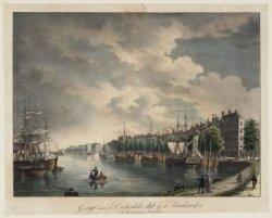 Gezigt van de Oosterdoks dijk op de Landswerf en de Buitenkant te Amsterdam