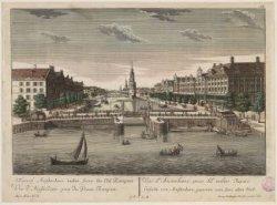 Gesicht von Amsterdam genomen von dem alten Wall. A View of Amsterdam tacken fro…