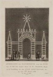 Afbeelding der illuminatie voor het huis van de WelEd: Gestr. Heer H.W. Cramer