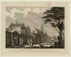 't REGULIERS-KLOOSTER, Zoo als het zig in Welstant vertoonde in den Jaare 1502. …