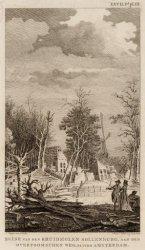 Ruine van den kruidmolen Sollenberg aan de Overtoomschen weg, buiten Amsterdam