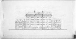Uitbreiding van het pakhuis Prinsengracht 55-57 volgens het eerste plan tot een …