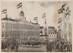 Inhuldiging van koning Willem II
