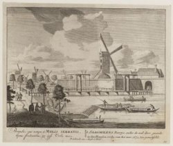 ''t Saagmolens Poortje, onder de wal door gaande; in den Franschen Oorlog van he…