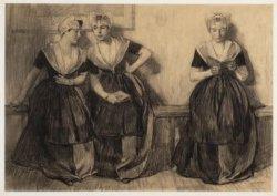 Groep van drie lezende weesmeisjes (Burgerweeshuis)
