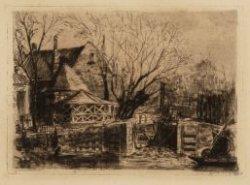 Boerenwetering gezien naar het Polderhuis, Stadhouderskade 43-46 vanaf de Hobbem…