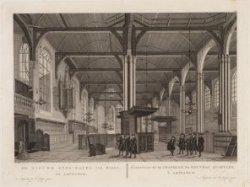 De Nieuwe Zyds-Kapel, van Binne, tot Amsterdam. L'interieur de la Chapelle du No…