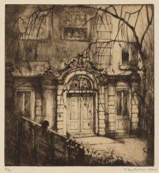 Tuinhuis van perceel Heerengracht 491, over de Nieuwe Spiegelstraat