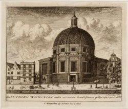 De Lutherse Niewe Kerk, welks zes eerste Grond-steenen gelegt zijn, 24 Oct:1668