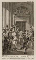 Burgemeesters Kamer, te Amsterdam, door het Graauw, door geweld geopend, in 't j…