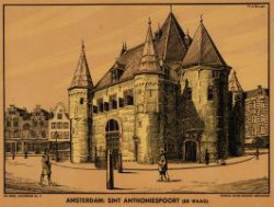 Amsterdam: Sint Antoniespoort (de waag)
