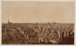 Panorama van Amsterdam vanaf het gebouw Felix Meritis gezien in noordelijke rich…
