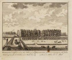 Frankendael, de hofstede van den Heer Balde aan de Middel-wegh, tusschen het Rec…