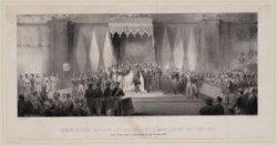 Inhuldiging van Z.M. als Koning der Nederlanden enz. enz. enz. in de Nieuwe kerk…
